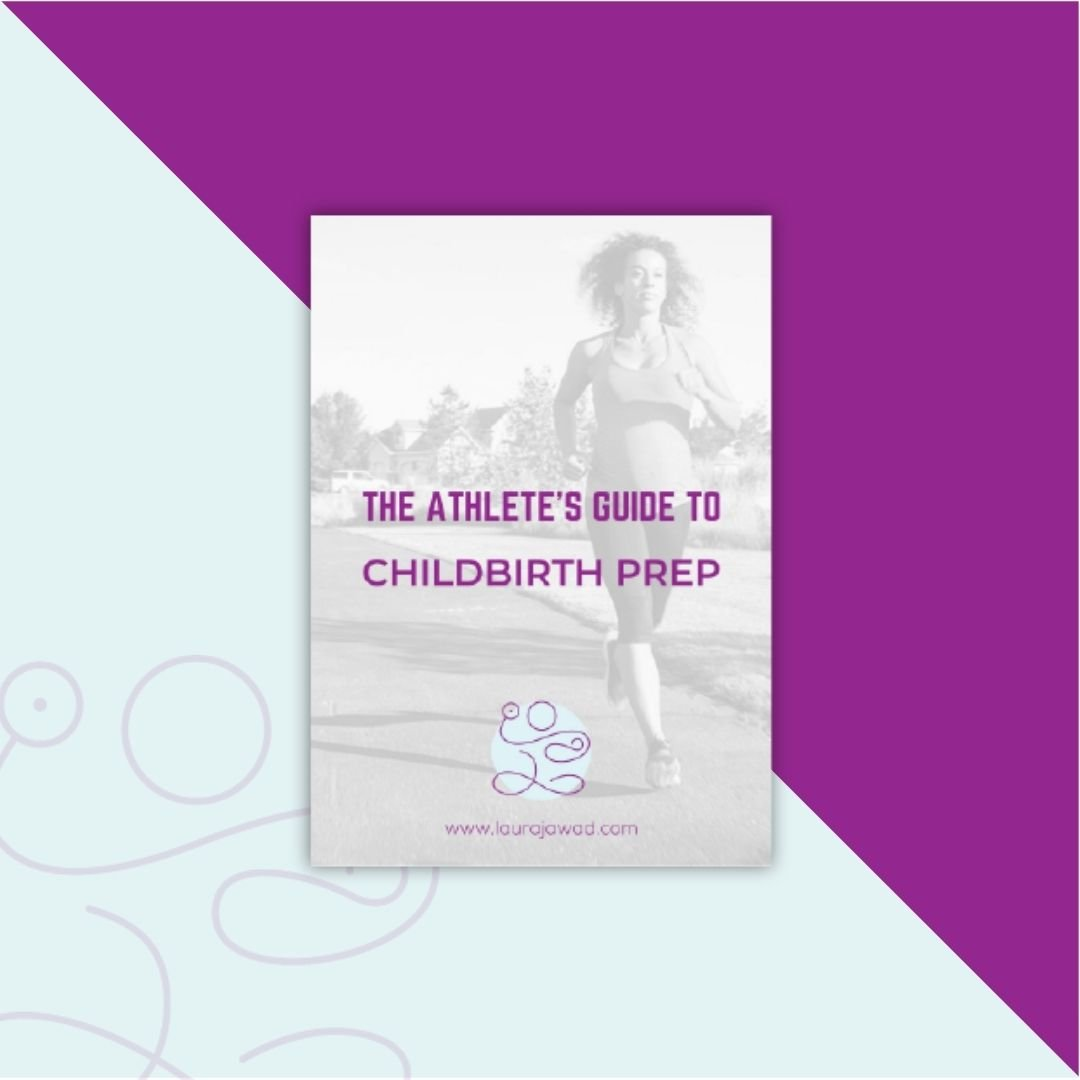 The Athlete's Guide to Childbirth Preparation announcement graphic