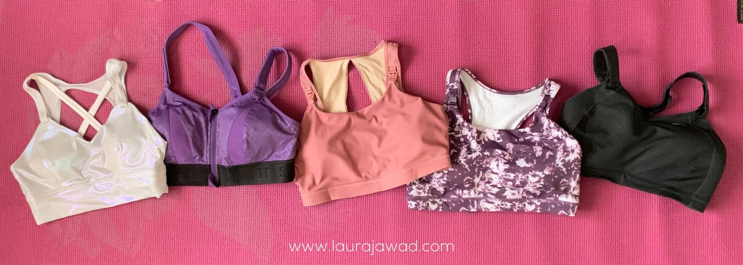 Five popular nursing sports bras that claim to offer support for larger breasts.