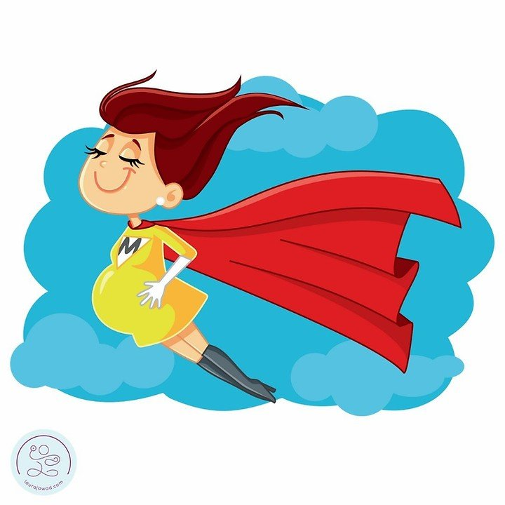 Pregnant super hero, breathing is your super power
