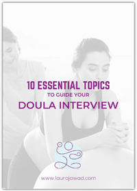 Essential Topics to Guide Your Doula Interview Freebie Cover